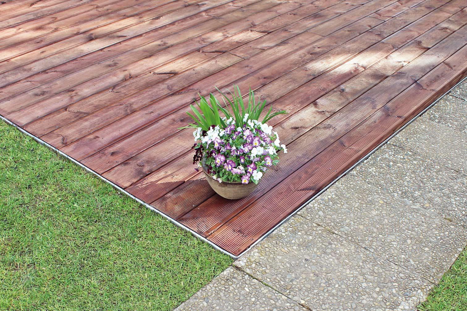 Terrasse Begrenzung Umrandung Mit Gartenprofil 3000 Von Terra S
